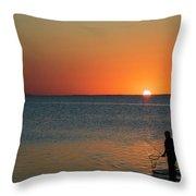 Fishing For Light Throw Pillow