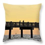 Fishing Friends Throw Pillow
