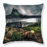Fishing Gear At Lindisfarne. Throw Pillow