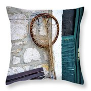 Fishing Gear In Primosten, Croatia Throw Pillow