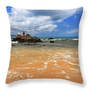 Fishing In Maui Throw Pillow