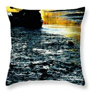 Fishing In The Pond Throw Pillow