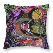 Fishing In Wonderland Throw Pillow