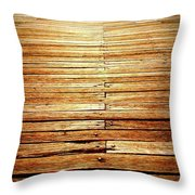Fishing Into The Sunset Throw Pillow