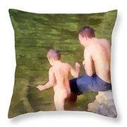 Fishing Lesson Throw Pillow