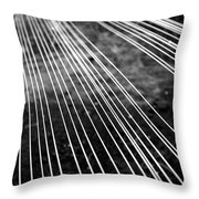 Fishing Lines Throw Pillow