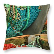Fishing Net Portrait Throw Pillow