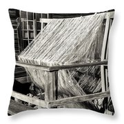Fishing Nets Wound On Spool Throw Pillow