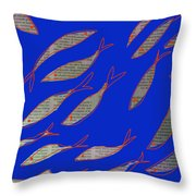 Fishing News Throw Pillow