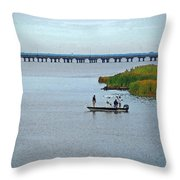 Fishing On The Flats Throw Pillow
