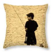Fishing Patience Throw Pillow