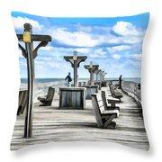 Fishing Pier 13 Throw Pillow