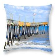Fishing Pier 4 Throw Pillow