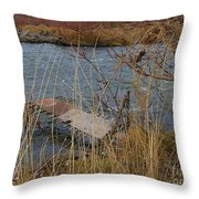 Fishing Platform  Throw Pillow