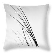 Fishing Poles - Bw Throw Pillow