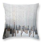 Fishing Poles Throw Pillow
