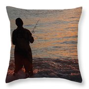 Fishing Reflections Throw Pillow