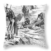 Fishing Rights, 1877 Throw Pillow