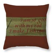 Fishing Rod Throw Pillow