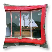Fishing Shack Window 5998 Throw Pillow
