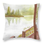Fishing Spot Throw Pillow