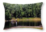 Fishing The St Croix Throw Pillow