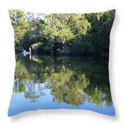 Fishing The Withlacoochee River. Throw Pillow