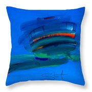 Fishing Trawler Hastings Stade Throw Pillow