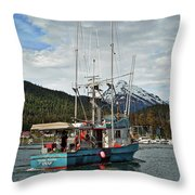 Fishing Vessel Chinak Throw Pillow