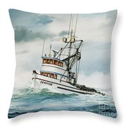 Fishing Vessel Devotion Throw Pillow