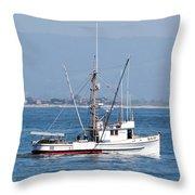 Fishing Vessel Sun Ra Throw Pillow