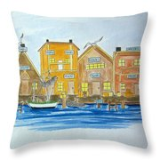 Fishing Village 2 Throw Pillow