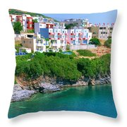 Fishing Village Bali Throw Pillow