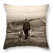 Fishing With Grandpa Throw Pillow