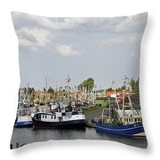 Fishingport Buesum Throw Pillow
