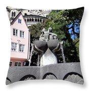 Fishmongers Fountain In Koln, Germany Throw Pillow