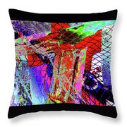 Fishnet Fantasy, A Collage Between Maine And Florida. Throw Pillow