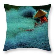 Fishnet Throw Pillow by Okan YILMAZ