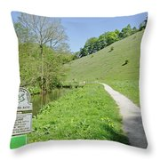 Fishpond Bank At Wolfscote Dale Throw Pillow