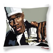 Fity Cent With Cash Throw Pillow