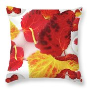 Five Autumn Leaves Throw Pillow