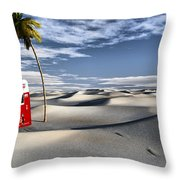 Five Cent Oasis Throw Pillow