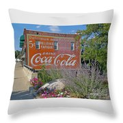 Five Cents Throw Pillow