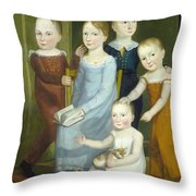 Five Children Of The Budd Family Throw Pillow