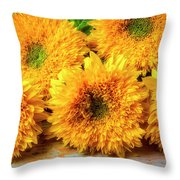Five Exotic Sunflowers Throw Pillow