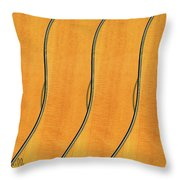 Five Fender Guitars Throw Pillow