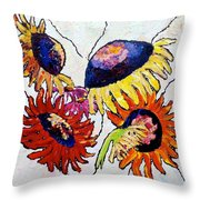 Five In Hand Throw Pillow