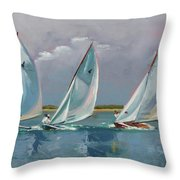 Five Indian March Throw Pillow