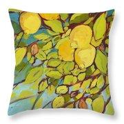 Five Lemons Throw Pillow