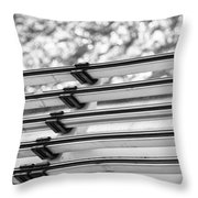 Five Lines Over The Deep Throw Pillow